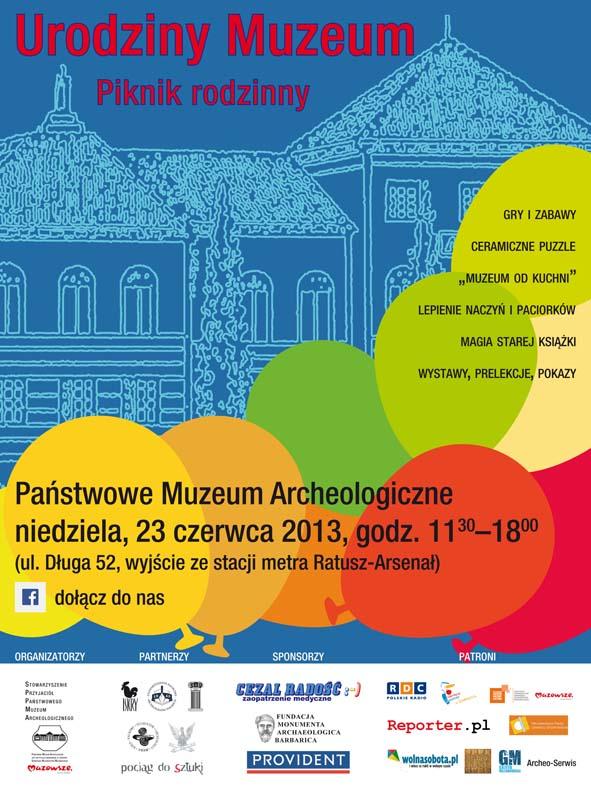 """Państwowe Muzeum Archeologiczne w Warszawie ma 85 lat i zaprasza na """"Urodziny Muzeum"""". Fot. PMA."""